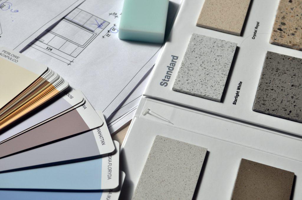 decorators palette, paint colours and flooring